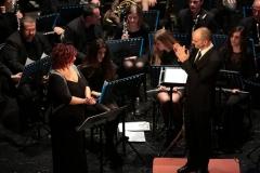 Maestro Gianluca Sartori e Banda Alaleona Montegiorgio e Cinzia Paoletti