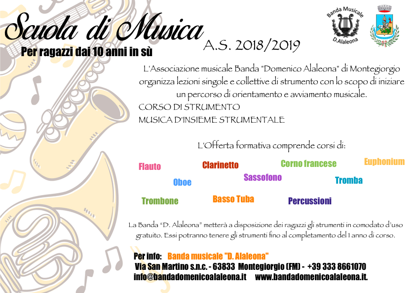 Scuola di Musica 2018-2019