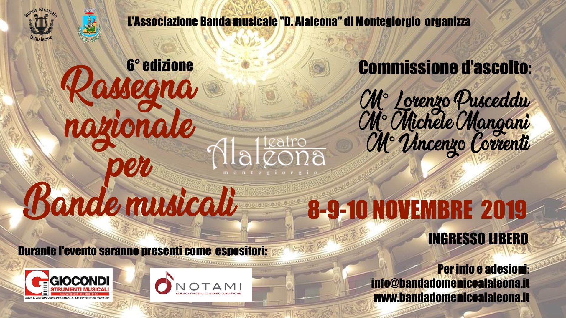6ª RASSEGNA NAZIONALE BANDE MUSICALI a Montegiorgio (FM)